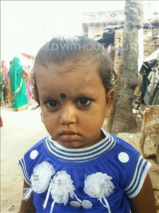 Choose a child to sponsor, like this little girl from Patna, Suruchi age 3
