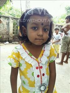 Choose a child to sponsor, like this little girl from Patna, Ananya age 4