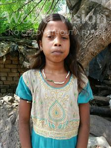 Choose a child to sponsor, like this little girl from Patna, Chinta age 9