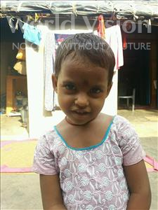 Choose a child to sponsor, like this little girl from Patna, Roshni age 3