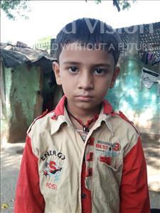 Choose a child to sponsor, like this little boy from Patna, Krishna Kumar age 6