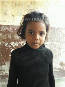 Choose a child to sponsor, like this little girl from Patna, Chandni age 4