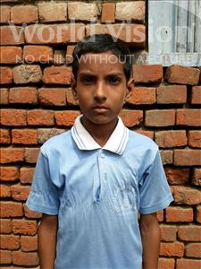 Choose a child to sponsor, like this little boy from Vaishali, Miraj age 10