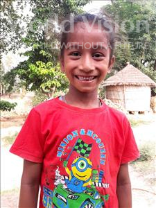 Avinit, aged 7, from India, is hoping for a World Vision sponsor