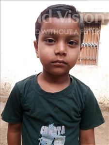 Choose a child to sponsor, like this little boy from Vaishali, Devraj age 6