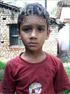 Choose a child to sponsor, like this little boy from Vaishali, Veer Bhadoor age 8