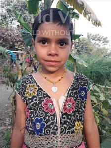 Choose a child to sponsor, like this little girl from Vaishali, Kajal age 7