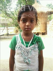 Choose a child to sponsor, like this little girl from Vaishali, Radha age 7
