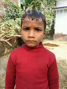 Choose a child to sponsor, like this little boy from Vaishali, Babu Raja age 8