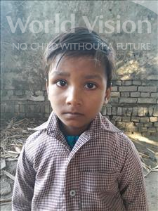 Choose a child to sponsor, like this little girl from Vaishali, Anjali age 5
