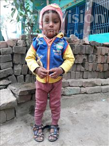 Choose a child to sponsor, like this little boy from Vaishali, Aditya age 3