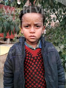 Choose a child to sponsor, like this little boy from Vaishali, Raunak age 4