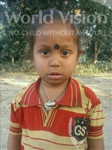 Choose a child to sponsor, like this little boy from Vaishali, Rabikishan age 4
