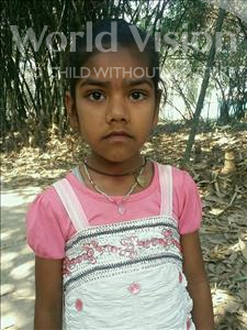 Choose a child to sponsor, like this little girl from Vaishali, Raj Nandini age 8