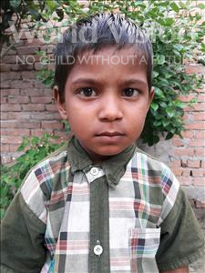 Choose a child to sponsor, like this little boy from Vaishali, Rajan age 5