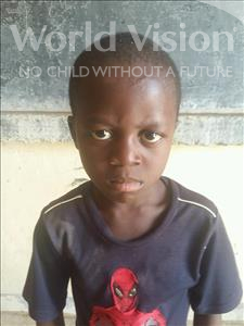 Choose a child to sponsor, like this little boy from Sirba, Salmane age 8