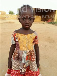 Choose a child to sponsor, like this little girl from Sirba, Hassane age 2