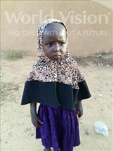 Samsia, aged 2, from Niger, is hoping for a World Vision sponsor
