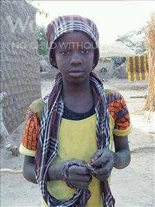 Choose a child to sponsor, like this little girl from Komabangou, Fadila age 12