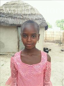 Choose a child to sponsor, like this little girl from Mbella, Fatou age 10