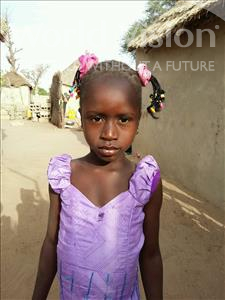 Choose a child to sponsor, like this little girl from Mbella, Daba age 8