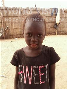 Choose a child to sponsor, like this little girl from Mbella, Amie age 8