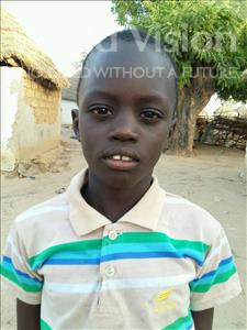 Choose a child to sponsor, like this little boy from Mbella, Doudou age 8