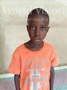 Choose a child to sponsor, like this little boy from Mbella, Ibrahima age 9