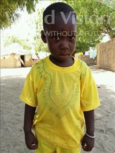 Choose a child to sponsor, like this little boy from Mbella, Abdou age 4
