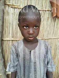 Choose a child to sponsor, like this little boy from Mbella, Moussa age 5