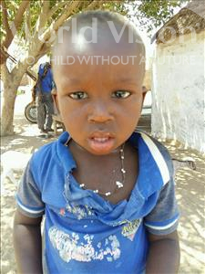 Choose a child to sponsor, like this little boy from Mbella, Saliou age 2