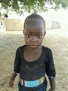 Choose a child to sponsor, like this little girl from Mbella, Mariama age 3