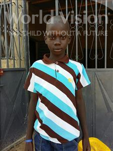 Choose a child to sponsor, like this little boy from Mbella, Mamadou age 9
