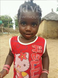 Choose a child to sponsor, like this little girl from Mbella, Binta age 2
