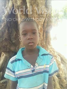 Choose a child to sponsor, like this little boy from Mbella, Moustapha age 6