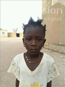 Choose a child to sponsor, like this little girl from Loul, Die age 6