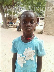 Choose a child to sponsor, like this little girl from Loul, Amy age 5