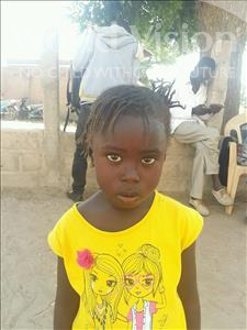Choose a child to sponsor, like this little girl from Loul, Mariama age 3