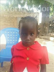 Choose a child to sponsor, like this little girl from Loul, Sokhna Diarra age 1