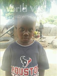 Choose a child to sponsor, like this little boy from Loul, Cheikh age 4