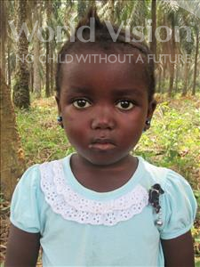 Choose a child to sponsor, like this little girl from Jong, Jeneba age 6