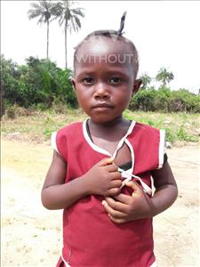 Choose a child to sponsor, like this little girl from Tegloma, Margaret age 3