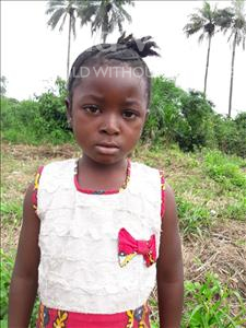 Choose a child to sponsor, like this little girl from Tegloma, Tenneh age 3