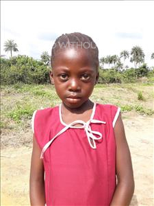 Jattu, aged 6, from Sierra Leone, is hoping for a World Vision sponsor