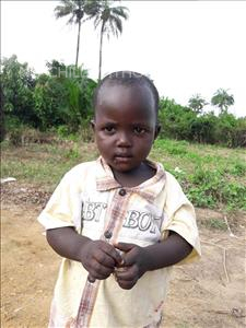 Choose a child to sponsor, like this little boy from Tegloma, Gbessay age 3
