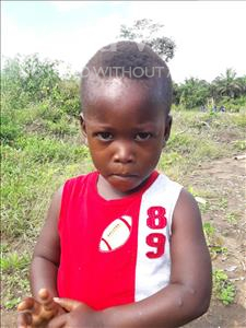 Choose a child to sponsor, like this little boy from Tegloma, Michael age 3