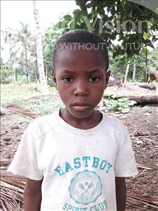 Choose a child to sponsor, like this little boy from Jaiama Bongor, Foday age 10