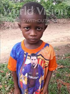 Choose a child to sponsor, like this little boy from Jaiama Bongor, Senesie age 6