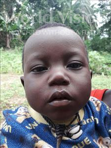 Choose a child to sponsor, like this little boy from Jaiama Bongor, Foray age 1