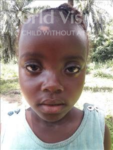 Choose a child to sponsor, like this little girl from Jaiama Bongor, Fatmata age 5